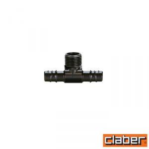 """Claber Raccordo Tubo Collettore """"T""""  - 91072 - per  Pop-Up -  1/2"""" (Conf 2Pz)"""