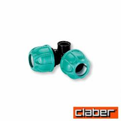 "Claber Raccordo a Compressione Gomito a ""T""  90426 - 32X32X3/4"" Femm"