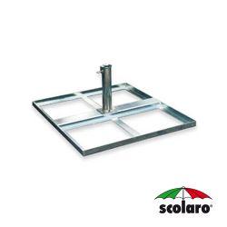 Base Quadrata Acciaio  con Tubo SCO-Tt65 per  Piastre In Cemento - 800X950 - 15 Kg