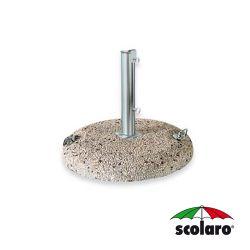 Base Tonda Cemento Graniglia  con Tubo SCO-T65 - Diam. 600 mm - 50 Kg