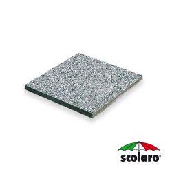 Piastra Quadrata In Cemento e Graniglia per  Base SCO-Blz-T65 - 400X400 mm - 20Kg