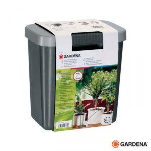 Gardena Kit Microirrigazione Vasi  - 1266 - 36 Vasi per  Interni  con Contenitore 9 Litri