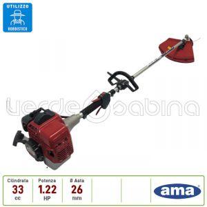 Decespugliatore AMA modello  AG5-350, Motore da 33cc, Impugnatura Singola